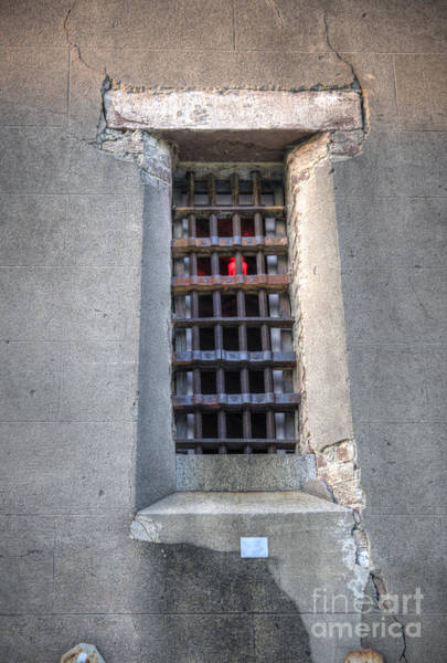 Photograph - Red Light Jail Window by Dale Powell