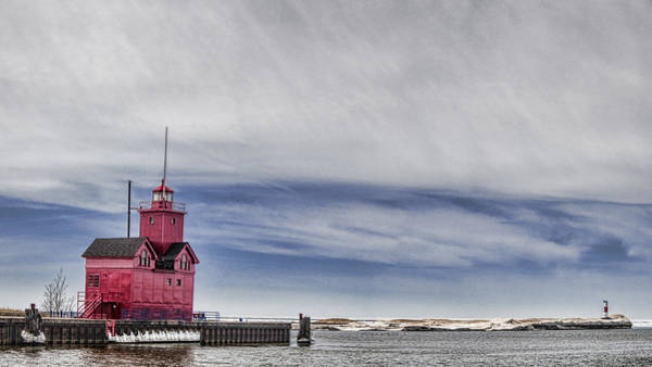 Holland State Park Photograph - Red Lighthouse by John Crothers
