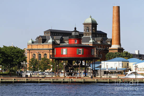 Patapsco Photograph - Red Lighthouse Of Baltimore by George Oze
