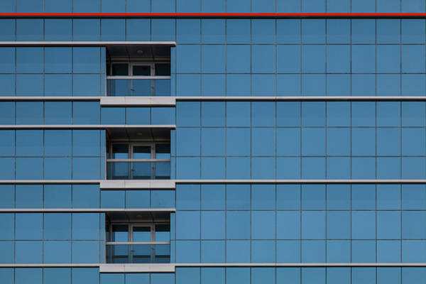 Wall Art - Photograph - Red Line Building. by Harry Verschelden