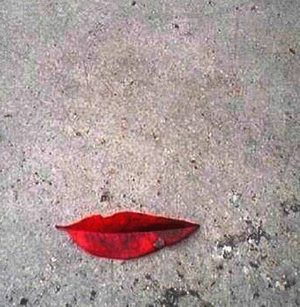 Wall Art - Mixed Media - Red Lipz On D Floor by Piety Dsilva