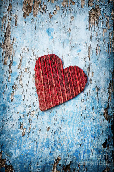 True Love Wall Art - Photograph - Red Love Heart  by Tim Gainey