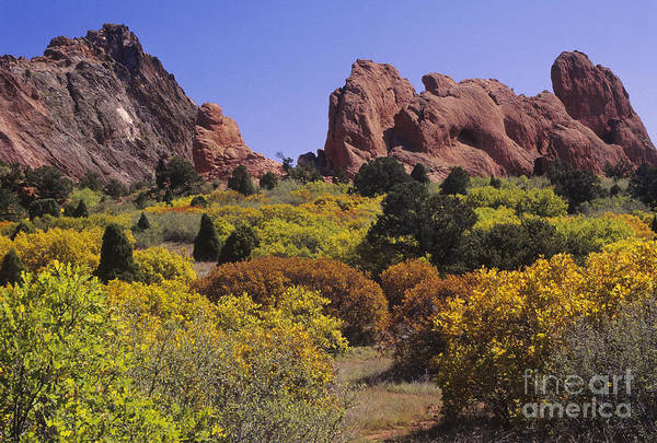 Lyons Wall Art - Photograph - Red Lyons Sandstone Formations & Autumn by Ellen Thane