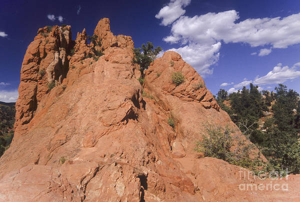 Lyons Wall Art - Photograph - Red Lyons Sandstone Rock Formation by Ellen Thane