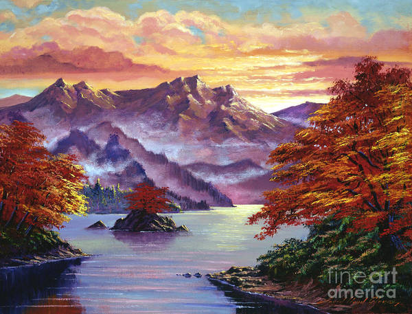Painting - Red Maple Island by David Lloyd Glover