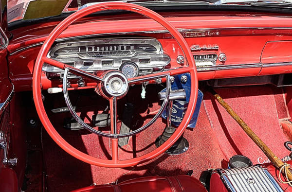 Photograph - Red Mercury Comet Convertible Dashboard by Kathy K McClellan