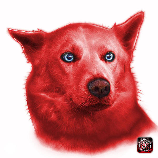 Painting - Red Mila - Siberian Husky - 2103 - Wb  by James Ahn