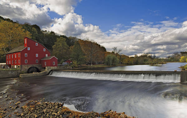 Photograph - Red Mill At Clinton New Jersey by Susan Candelario