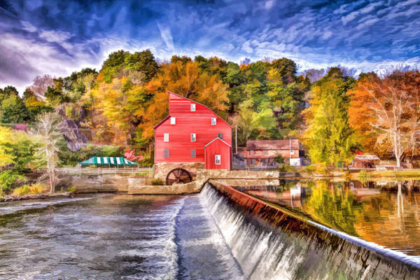 Wall Art - Painting - Red Mill Painted by Geraldine Scull