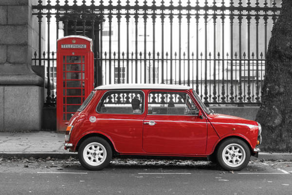 Mini Cooper Wall Art - Photograph - Red Mini Cooper In London by Dutourdumonde Photography