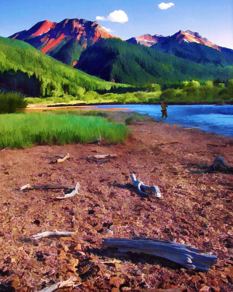 Digital Art - Red Mountain Driftwood by Rick Wicker