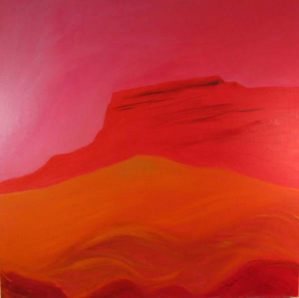Wall Art - Painting - Red Mountain I by Barbara Lipkin