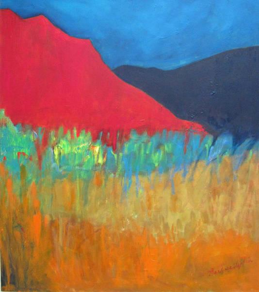 Wall Art - Painting - Red Mountain II by Barbara Lipkin