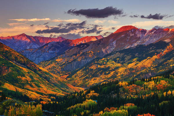 Red Mountain Pass Sunset Art Print