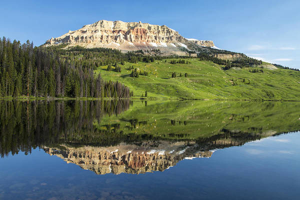 Red Mountain Reflection Art Print
