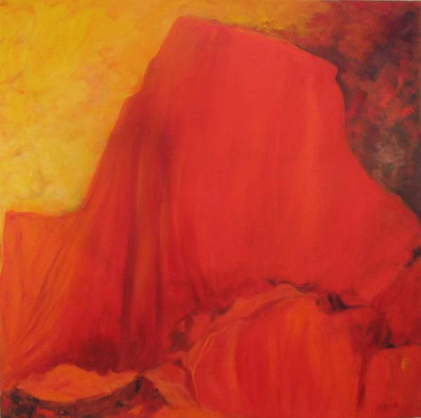 Wall Art - Painting - Red Mountain Xi by Barbara Lipkin