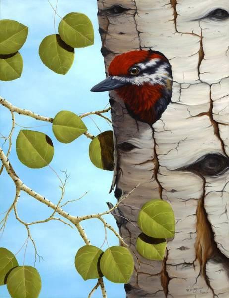 Wall Art - Painting - Red-naped Sapsucker by Rick Bainbridge