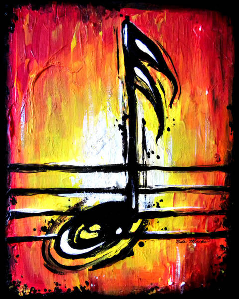 Red Note  Art Print