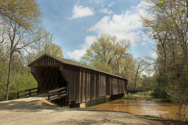 Photograph - Red Oak Creek Covered Bridge by Mike Fitzgerald