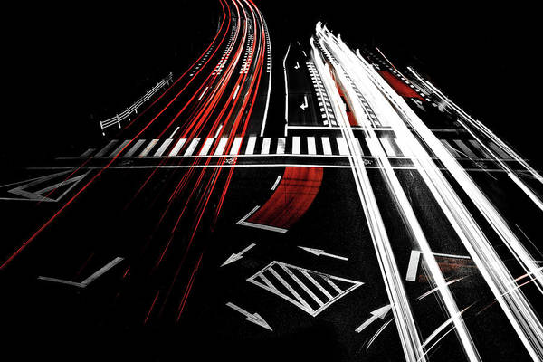 Traffic Wall Art - Photograph - Red Of Night by Keisuke Ikeda @