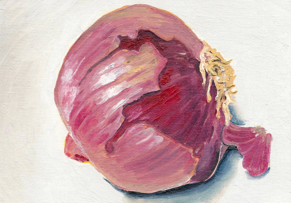 Red Onion Painting - Red Onion Painting by Arch