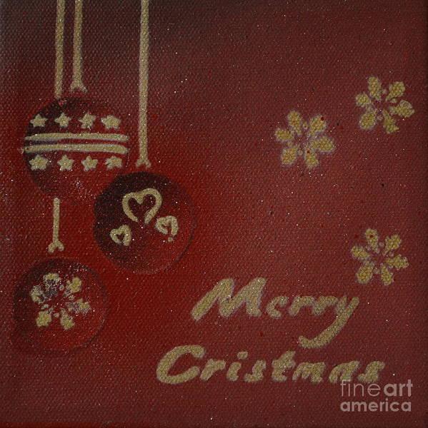 Red Ornaments Art Print