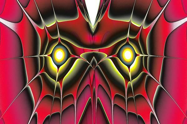 Digital Art - Red Owl by Anastasiya Malakhova