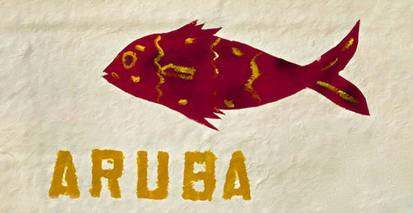 Photograph - Red Painted Fish Of Aruba by David Letts