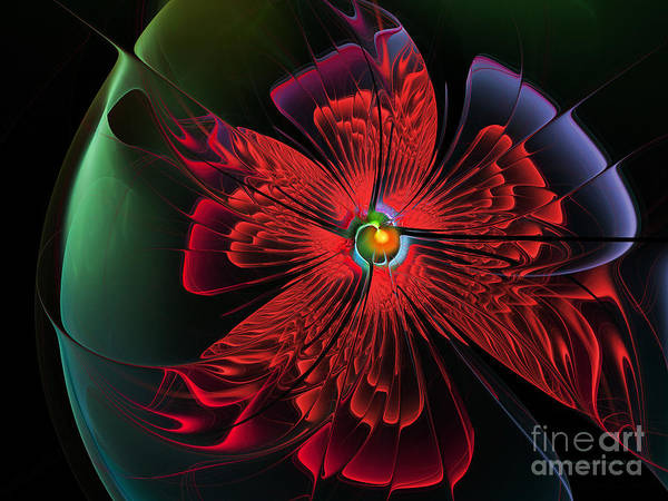 Passionate Digital Art - Red Passion by Karin Kuhlmann