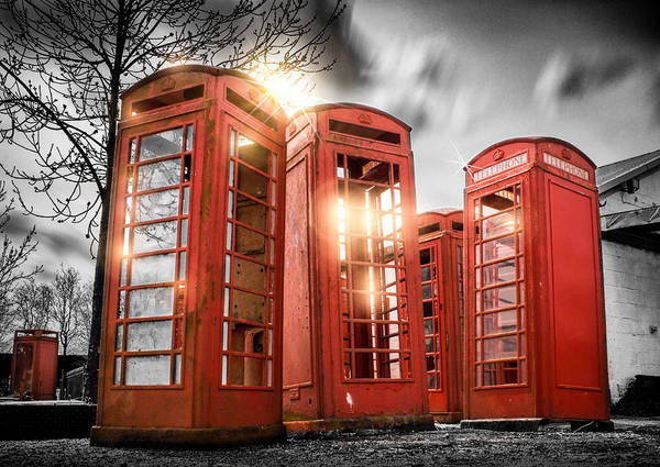 Wall Art - Photograph - Red Phone Box Art by Ian Hufton
