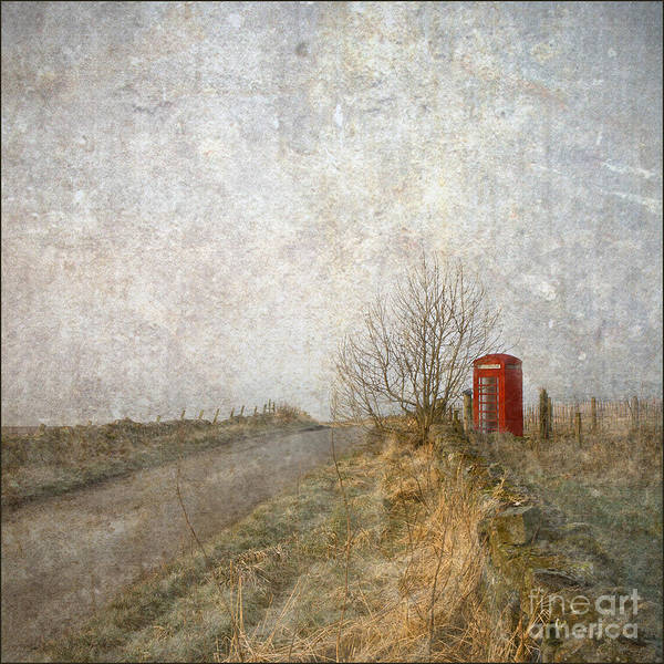 Liz Digital Art - Red Phone Box by Liz  Alderdice