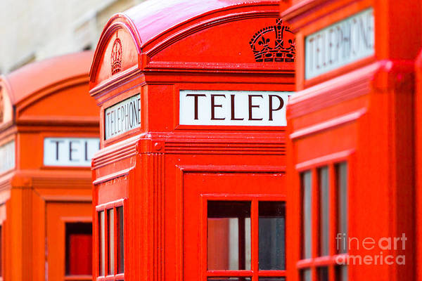 Photograph - Red Phone Boxes by Andy Myatt