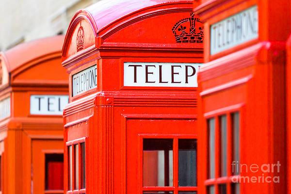 Red Phone Boxes Art Print