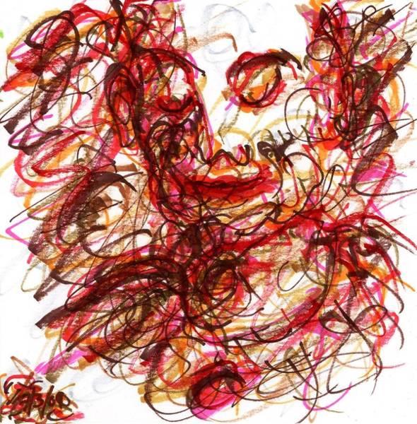 Drawing - Red Pierrot by Rachel Scott