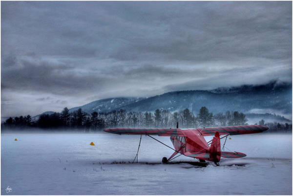 Photograph - Red Plane In A Gathering Storm by Wayne King
