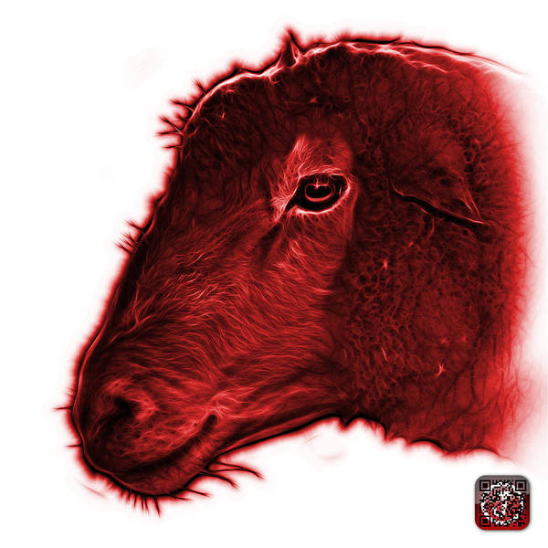 Digital Art - Red Polled Dorset Sheep - 1643 Fs by James Ahn