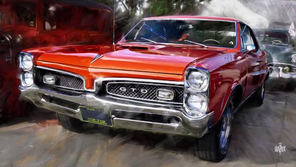 Wall Art - Digital Art - 1967 Red Pontiac Tempest Gto by Garth Glazier