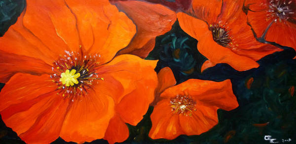 Painting - Red Poppies by Ekaterina Chernova