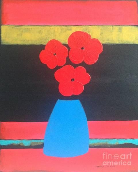 Painting - Red Poppies by Monika Shepherdson