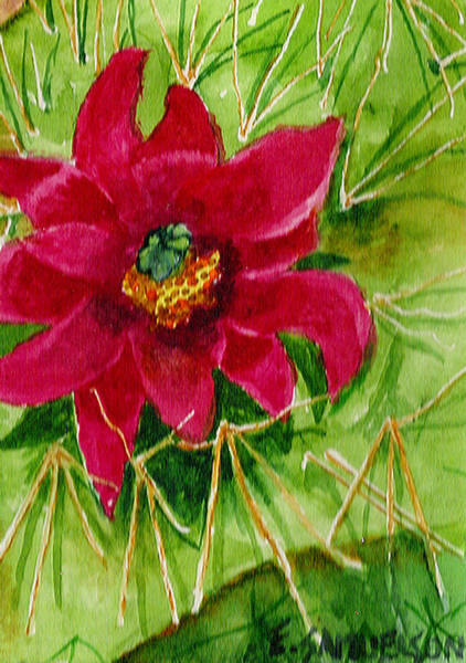 Painting - Red Prickly Pear by Eric Samuelson