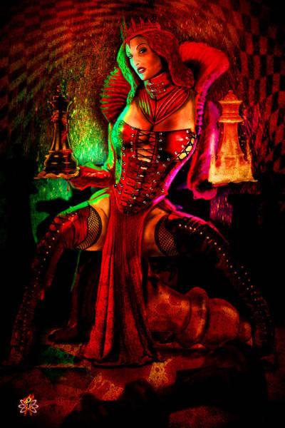 Digital Art - Red Queen by Doug Schramm