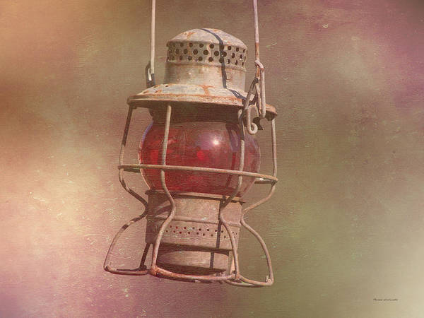 Wall Art - Photograph - Red Railroad Lantern by Thomas Woolworth