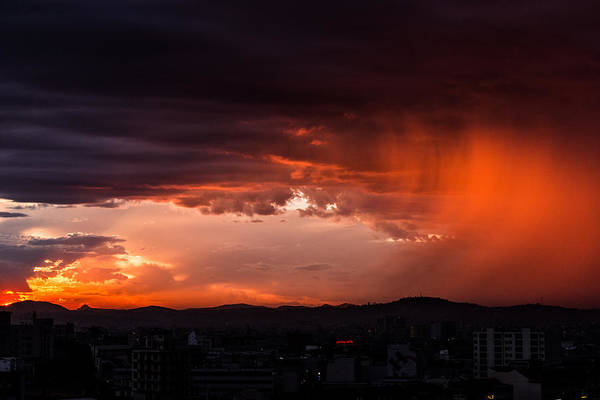 Photograph - Red Rain Over Tana by Alex Lapidus