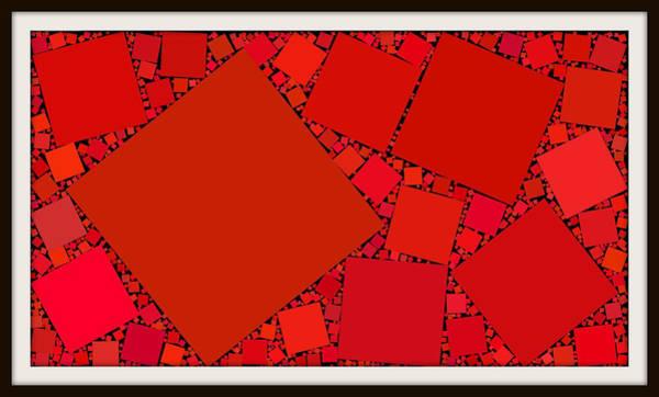 Wall Art - Digital Art - Red Rectangles I by Kurt Heppke