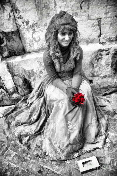 Busker Wall Art - Photograph - Red Red Rose In Black And White by David Smith