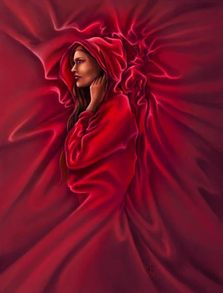 Cloak Digital Art - Red Riding Hood by Rob Carlos