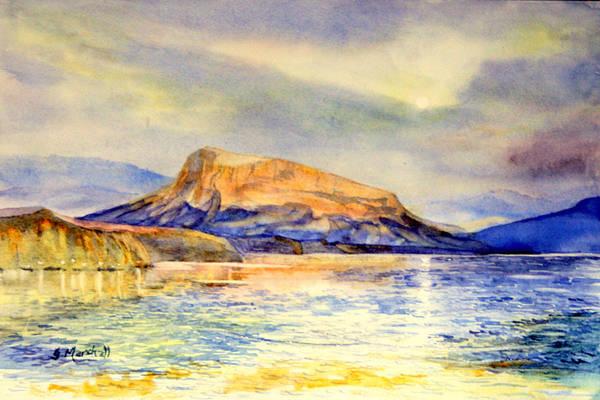 Painting - Red Rigi by Glenn Marshall