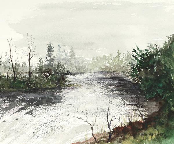 Red River Rapids Art Print