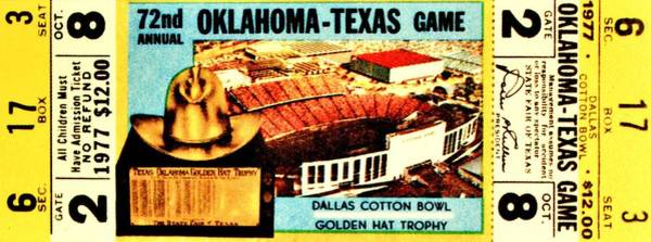 Wall Art - Photograph - Red River Rivalry '77 by Benjamin Yeager