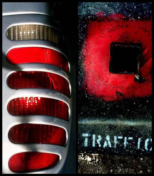 Red Road Rage Art Print